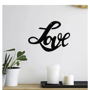 Other - Love Wall Art Black Powder Coated Steel